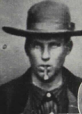 Selon William H. Roberts, voici la photo qui le représentait à 17 ans, en 1877.