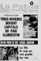 Page couverture de La Patrie, 5 juin 1966.
