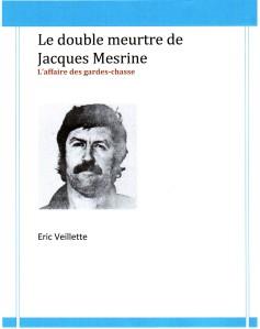 Le double meurtre de Jacques Mesrine couverture