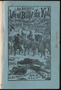 Couverture du livre de Pat Garrett, paru en 1882.