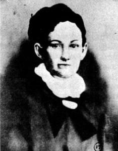 Selon l'auteur Glenn Shirley, cette photo de Myra Maybelle Shirley aurait été prise à l'époque de son mariage avec Jim Reed en 1866.