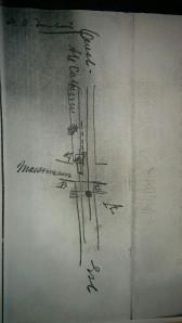 Ce schéma retrouvé dans les archives a servi lors du procès de Thomas Atkinson pour mieux comprendre ce qui s'était produit.