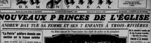 La Patrie 16 décembre 1929