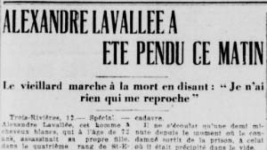 L'Action Catholique, édition du 12 août 1927.