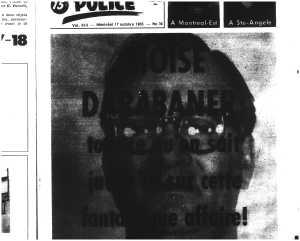 Une photo de mauvaise qualité de Darabaner (Allô Police, 1965).