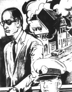Moïse Darabaner, selon un dessin d'Allô Police, 1965.