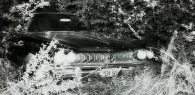 Le devant de la Buick 1960 qui a servi au double meurtre. Cette voiture a été volée par les tueurs dans leur escapade improvisée.